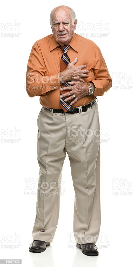Senior Man With Chest Pain stock photo