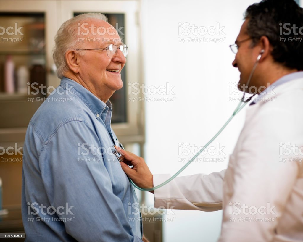 Senior man with doctor. royalty-free stock photo