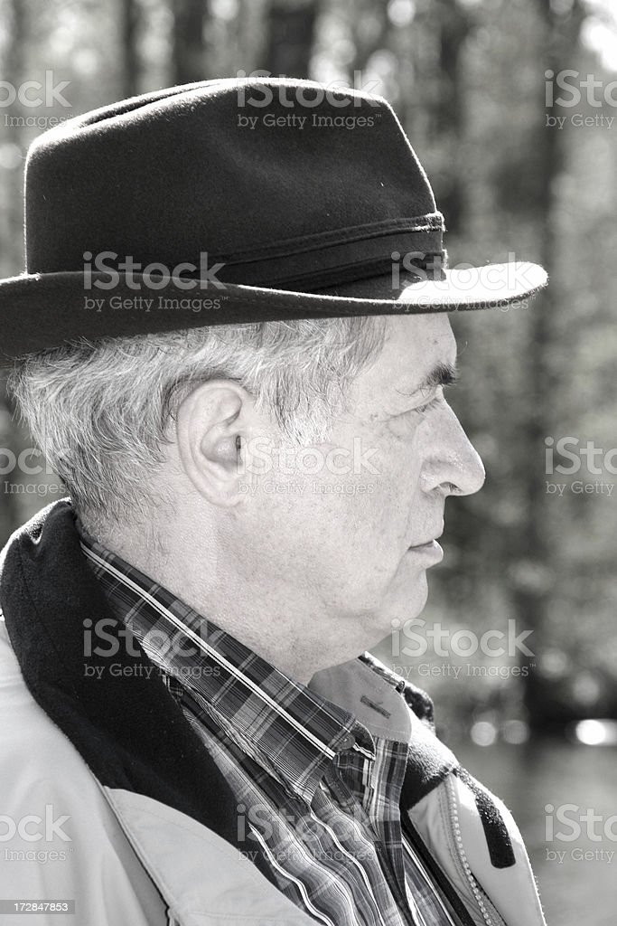 senior man with hat royalty-free stock photo