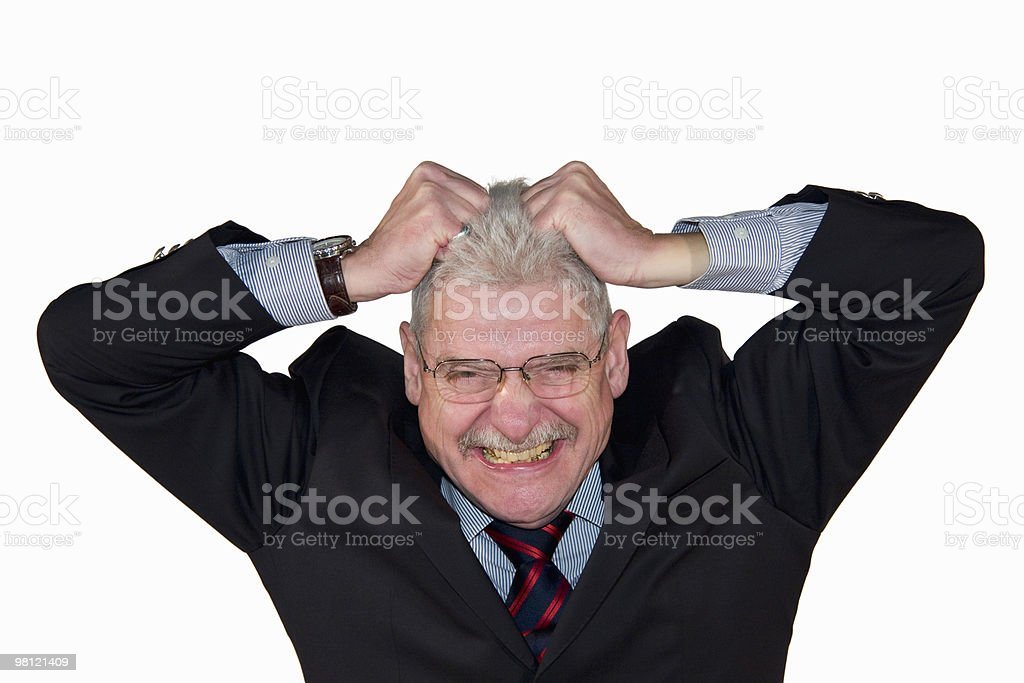 senior manager freaking out royalty-free stock photo