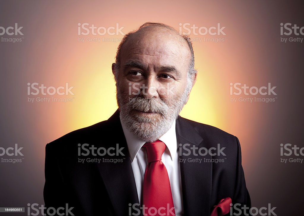 Senior Man.CEO royalty-free stock photo