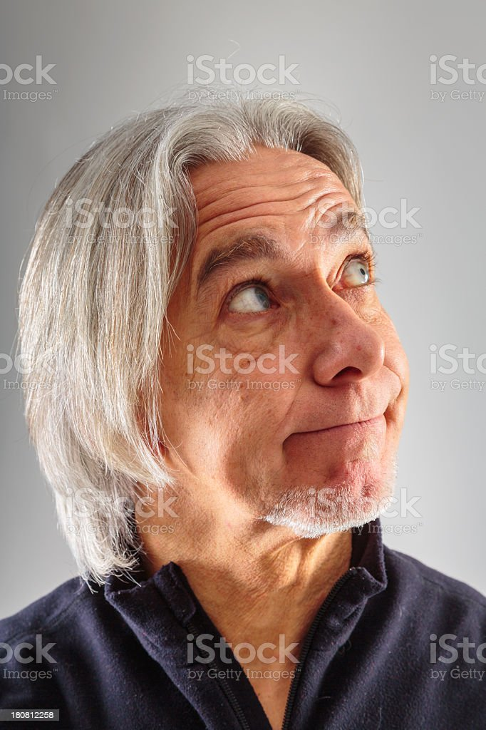 senior man's portrait royalty-free stock photo