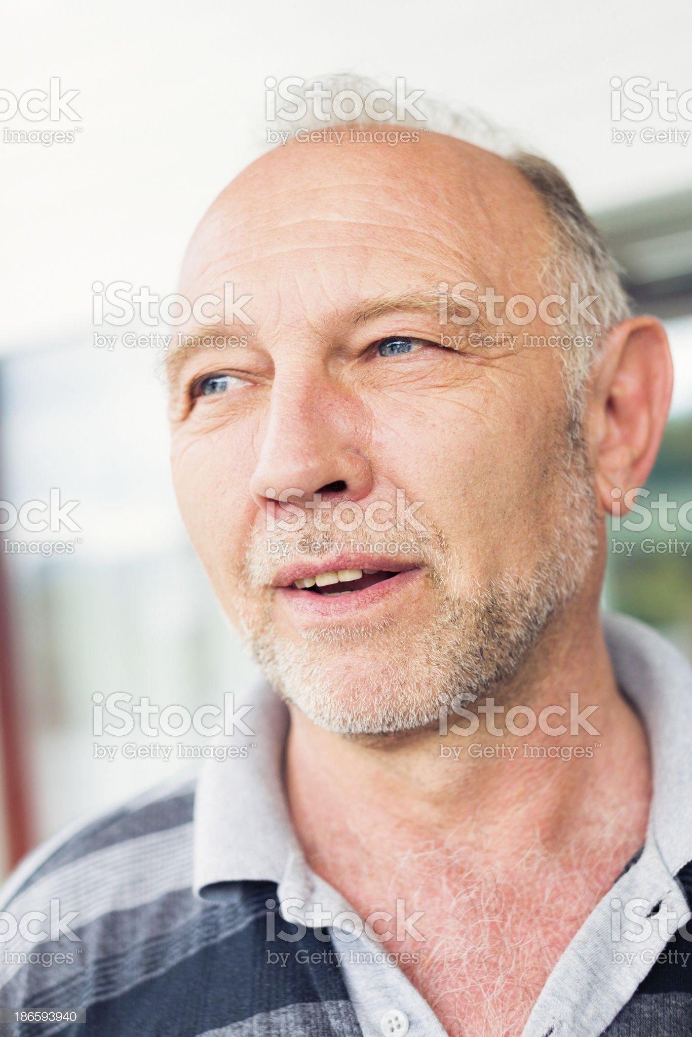 senior man's portrait royalty-free stock photo