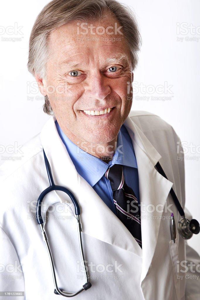 senior medical doctor smiling at camera royalty-free stock photo