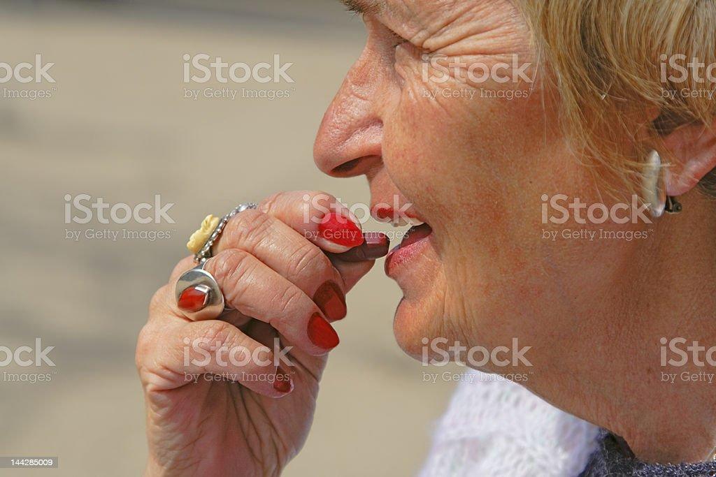 Senior medication royalty-free stock photo