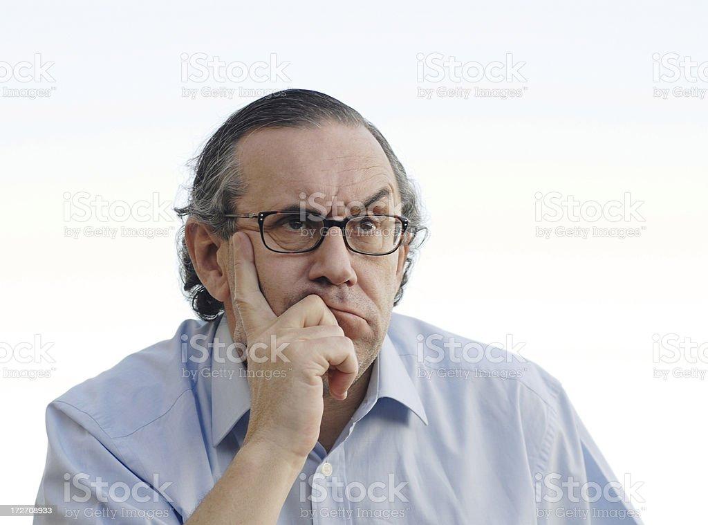 Senior men annoyed and bored. royalty-free stock photo