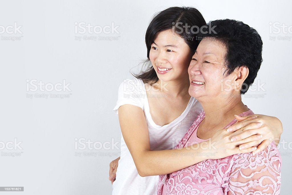 Senior Mother & Daughter royalty-free stock photo