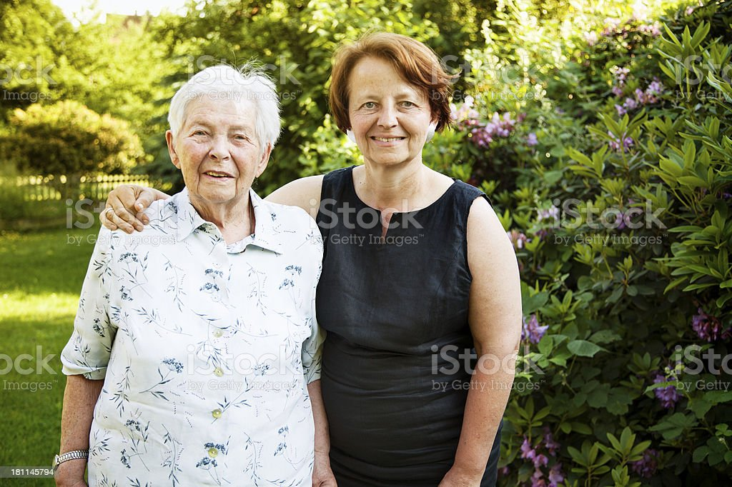 senior mother mature daughter togetherness royalty-free stock photo