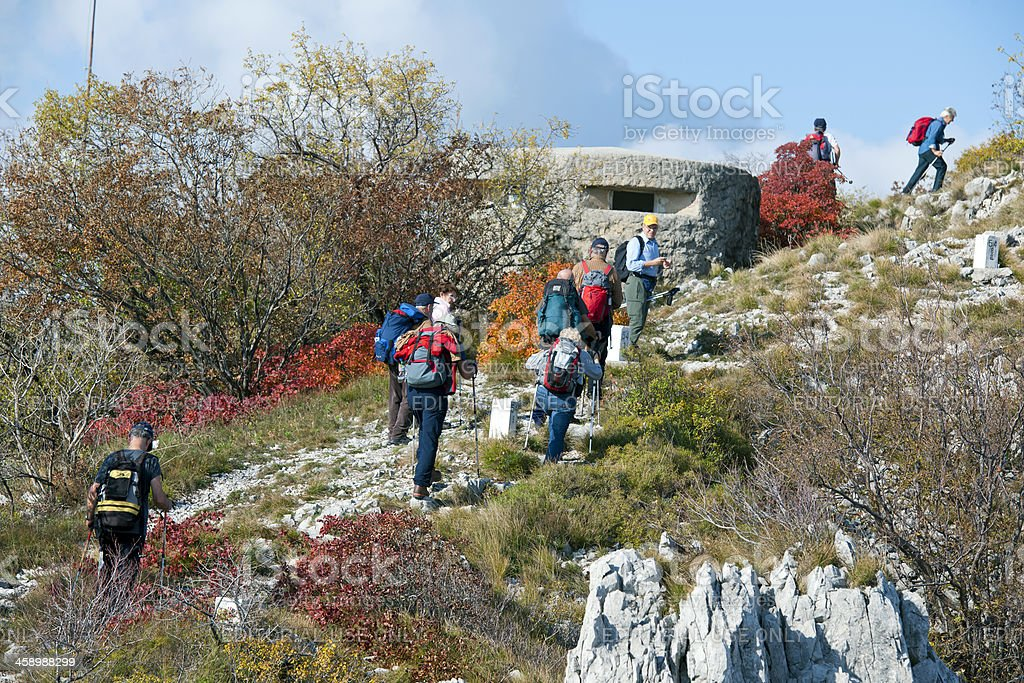 Senior Mountaineering by Bunker royalty-free stock photo
