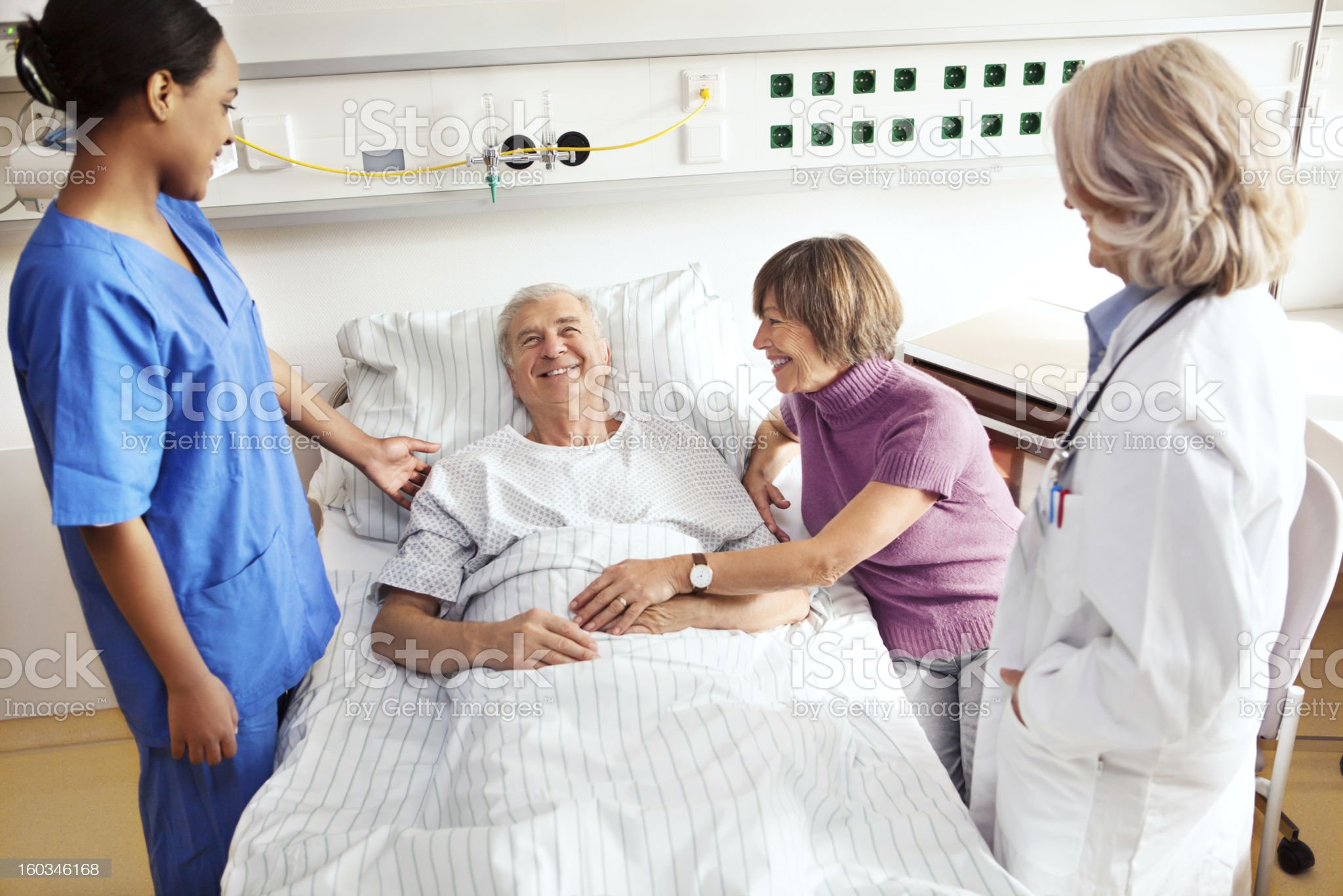 Senior patient at the hospital royalty-free stock photo