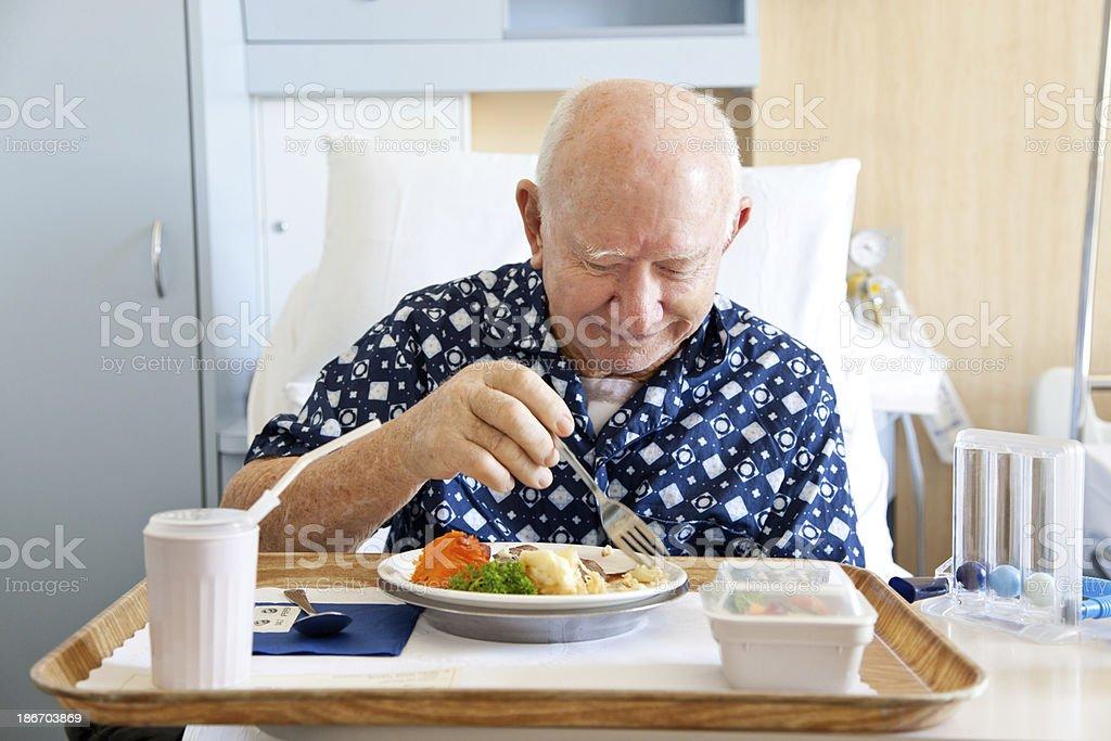 Senior Patient Eating stock photo