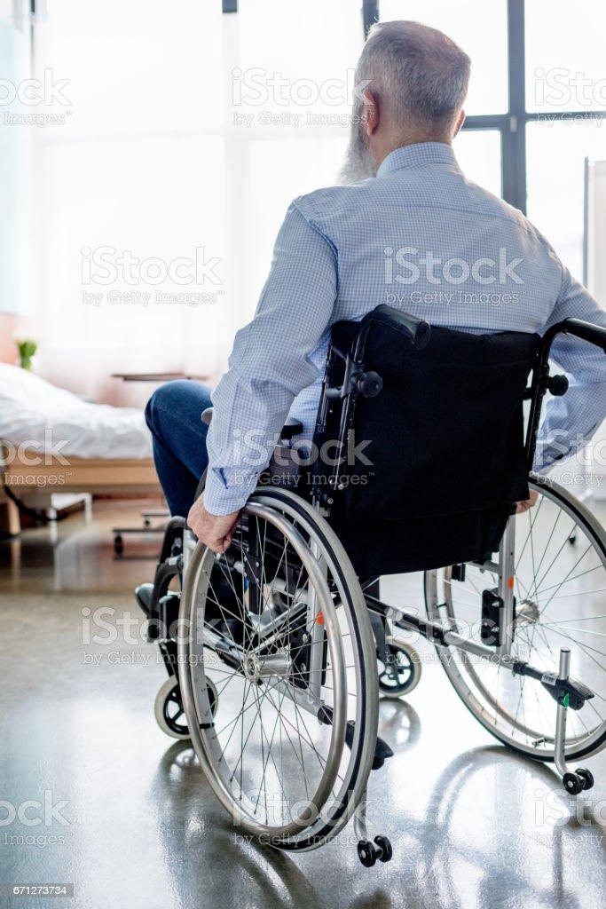 Senior patient in wheelchair stock photo