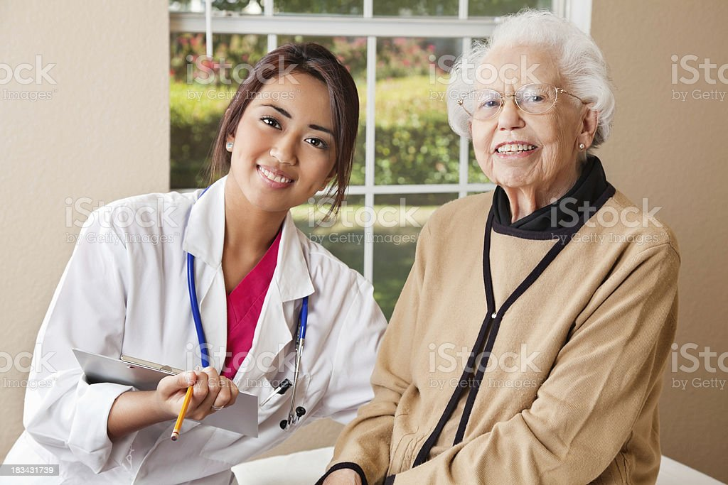 Senior Patient With Her Doctor royalty-free stock photo