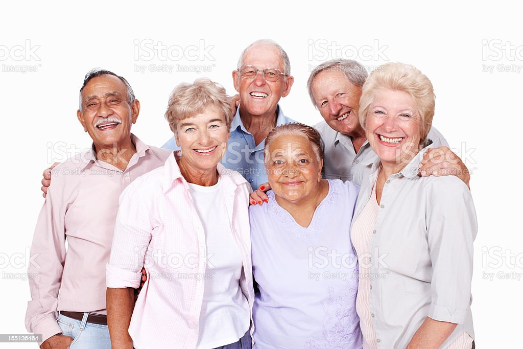 Senior people enjoying spending time together royalty-free stock photo