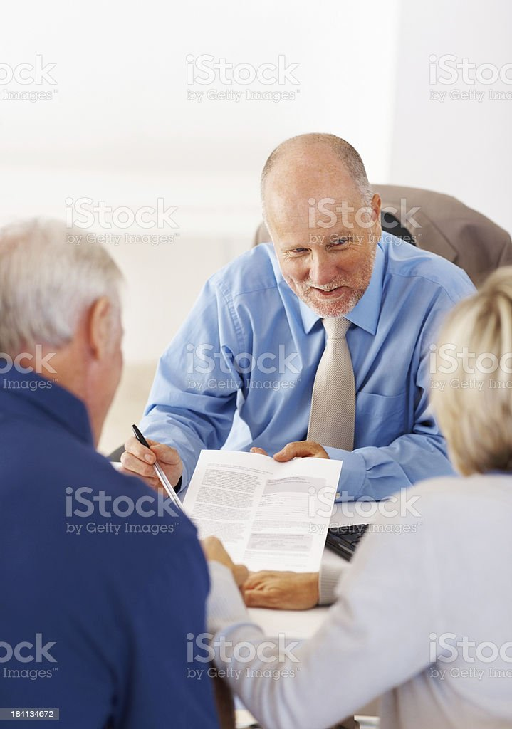 Senior people having a conversation royalty-free stock photo