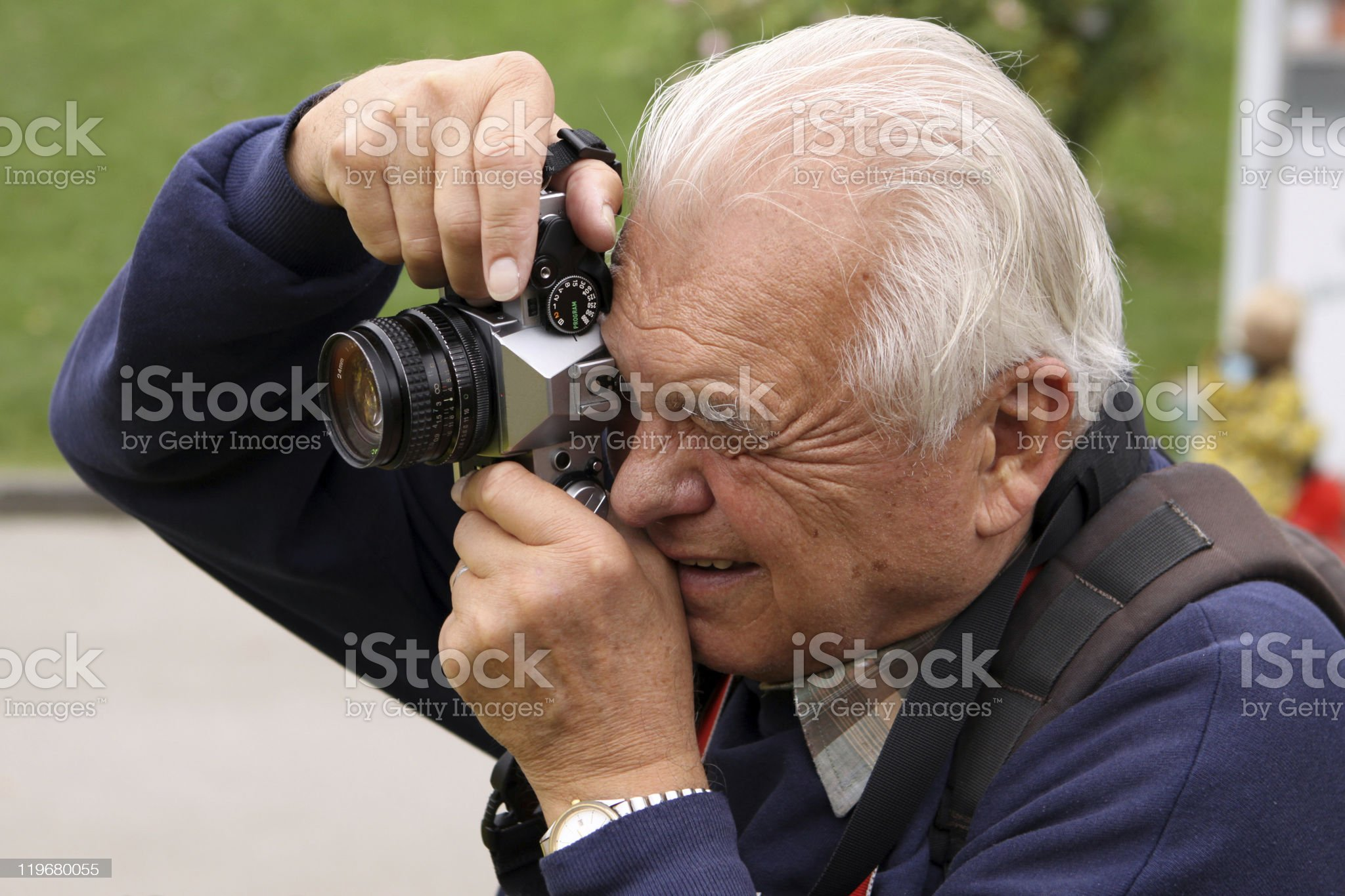 Senior Photographer royalty-free stock photo