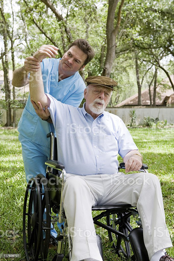 Senior Physical Therapy Session royalty-free stock photo