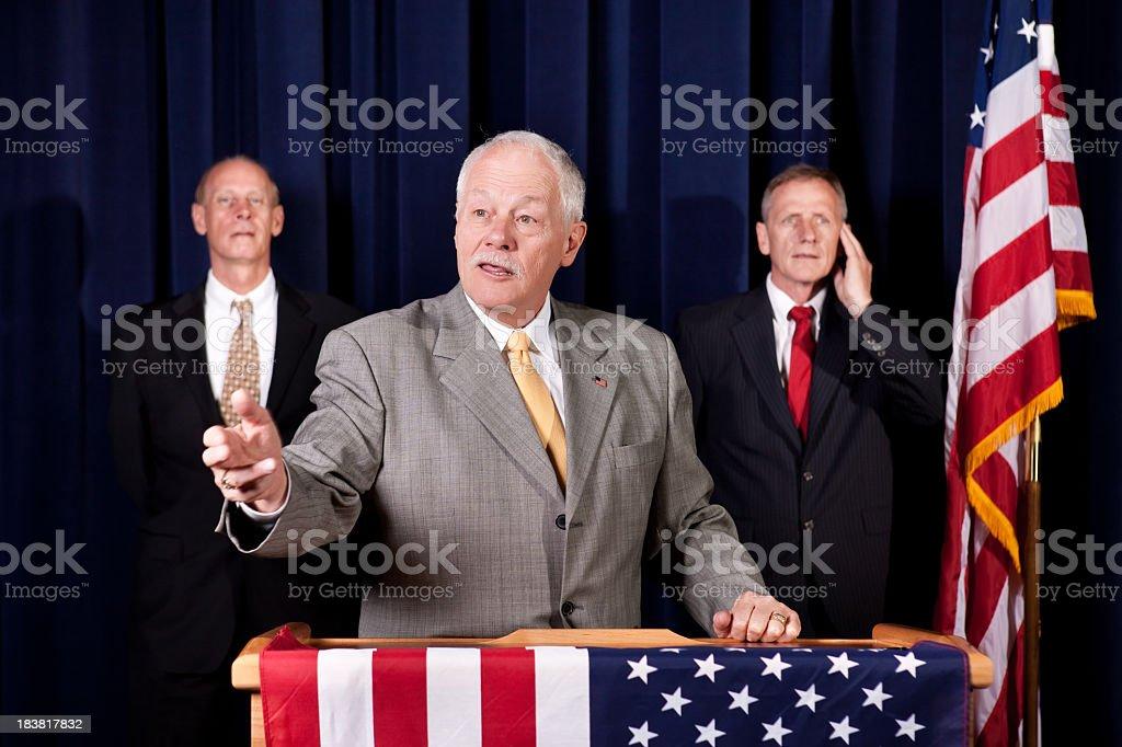 Senior Polititian at Podium in U.S. royalty-free stock photo