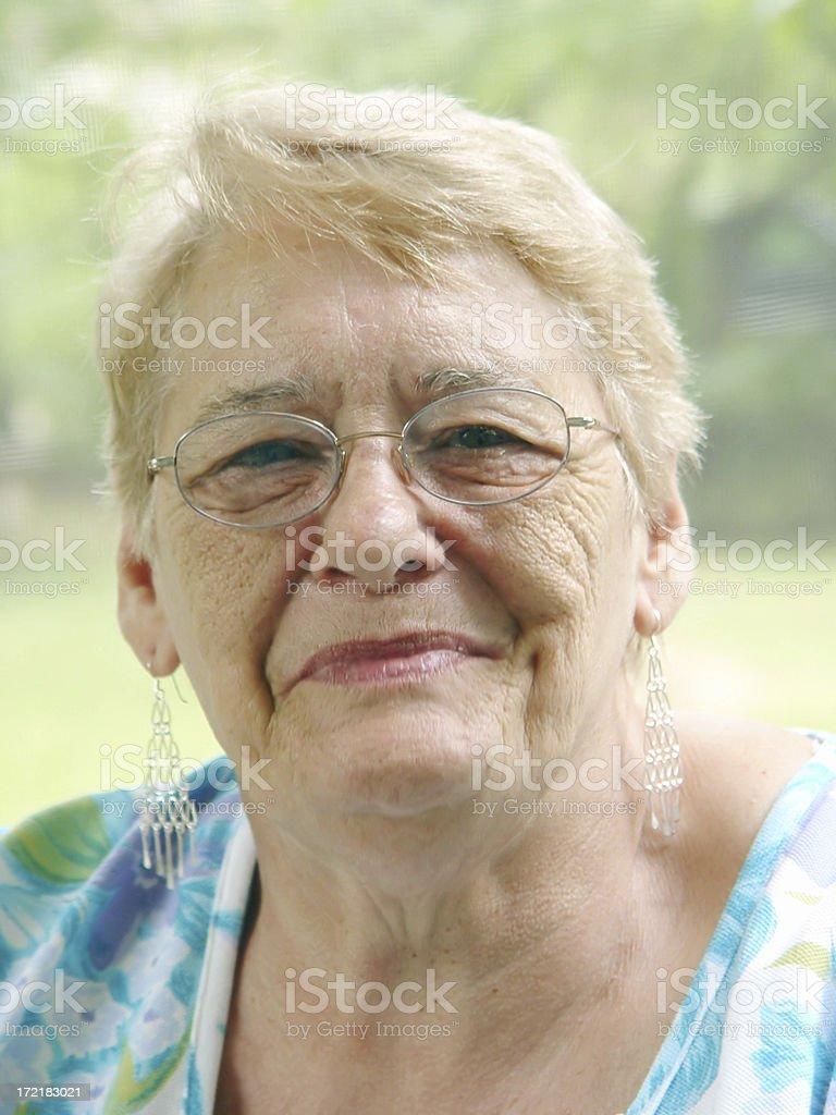 senior portrait - happy stock photo