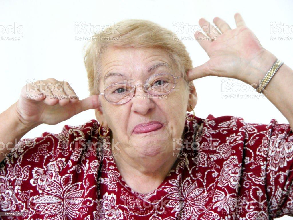 senior portrait - having fun stock photo