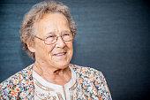 Senior Portrait in an Elderly Daycare Center