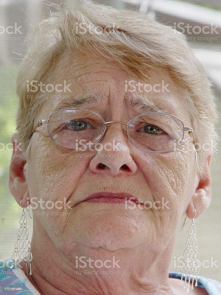 senior portrait - intensity stock photo