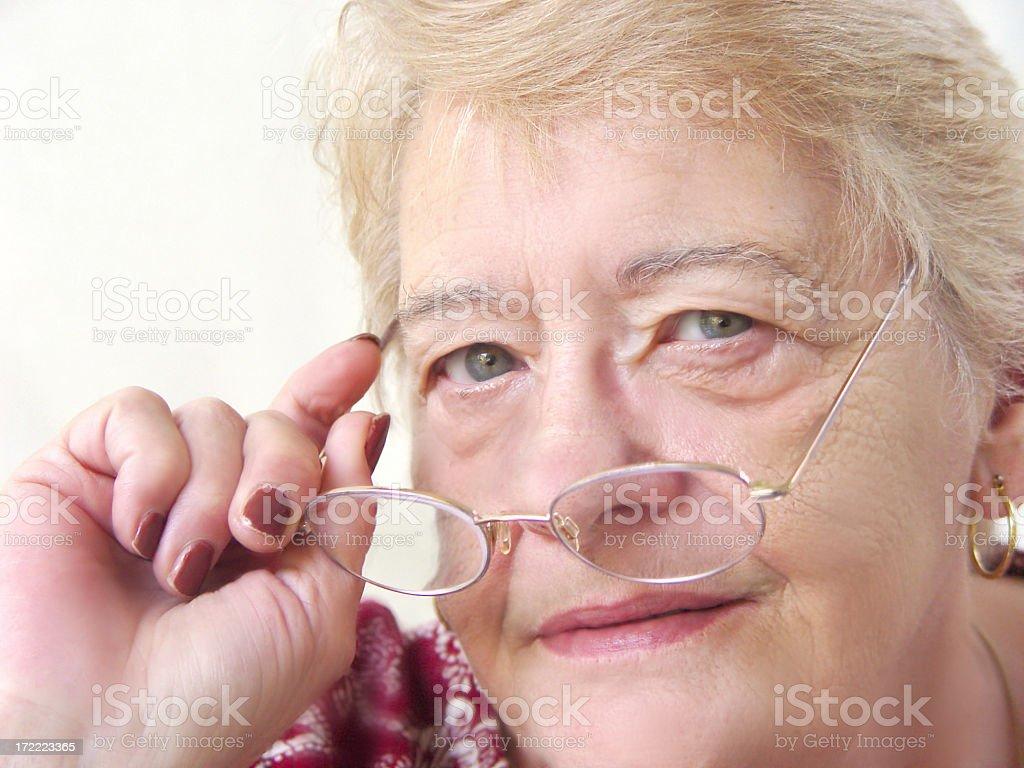 senior portrait - my mentor stock photo