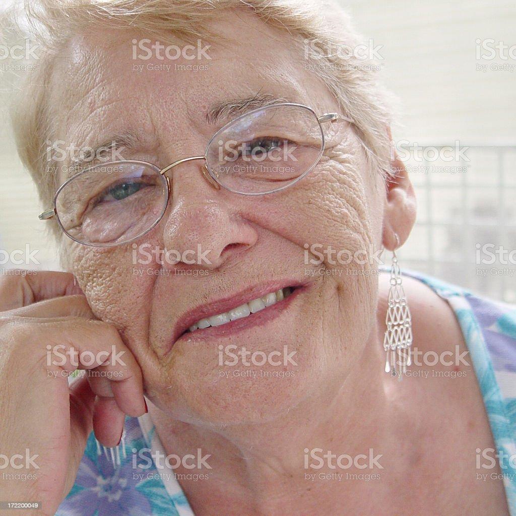 senior portrait:  smiling stock photo