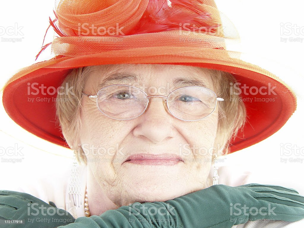senior - red and green stock photo