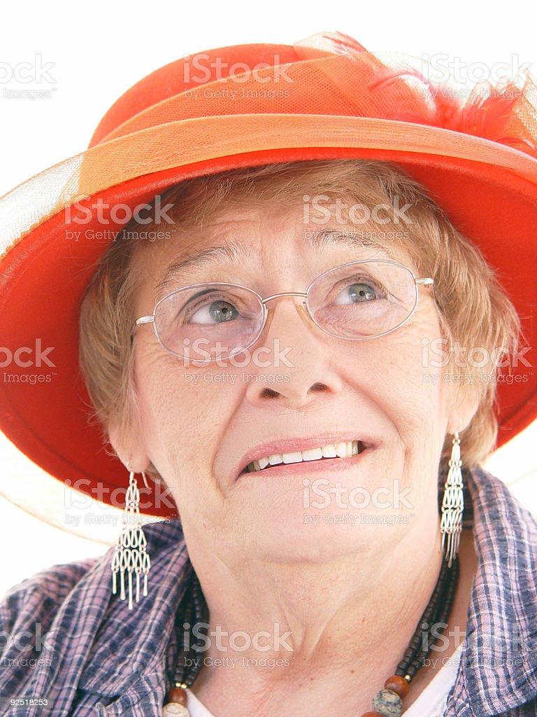 senior - red hat ladies club stock photo