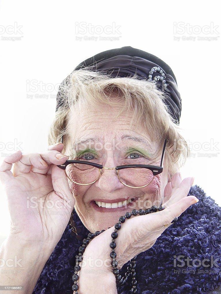 senior - retro woman royalty-free stock photo
