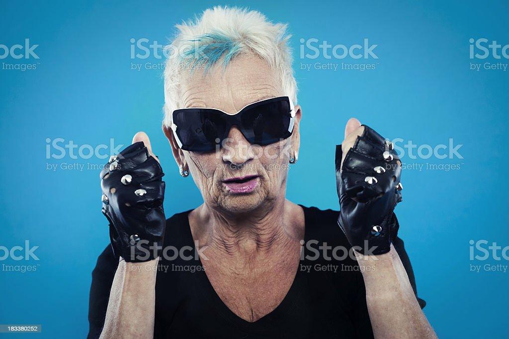 Senior rocker stock photo