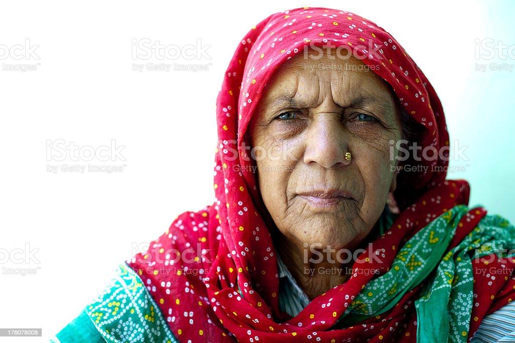 Senior Rural Indian Woman royalty-free stock photo