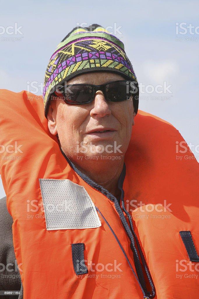 Senior Sailer royalty-free stock photo