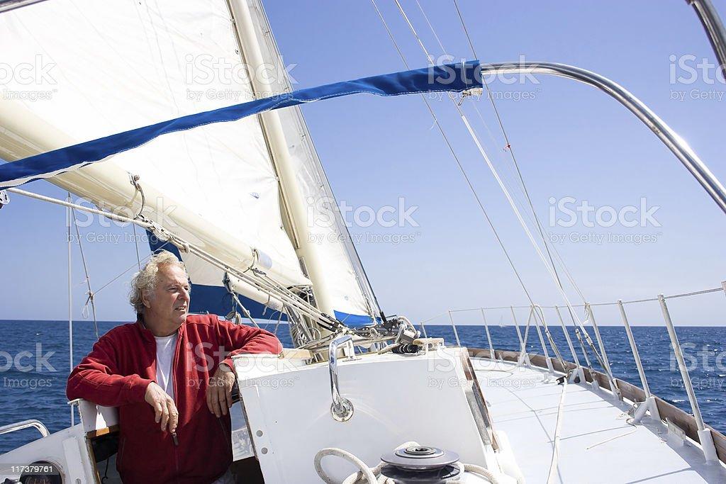 Senior sailor. royalty-free stock photo