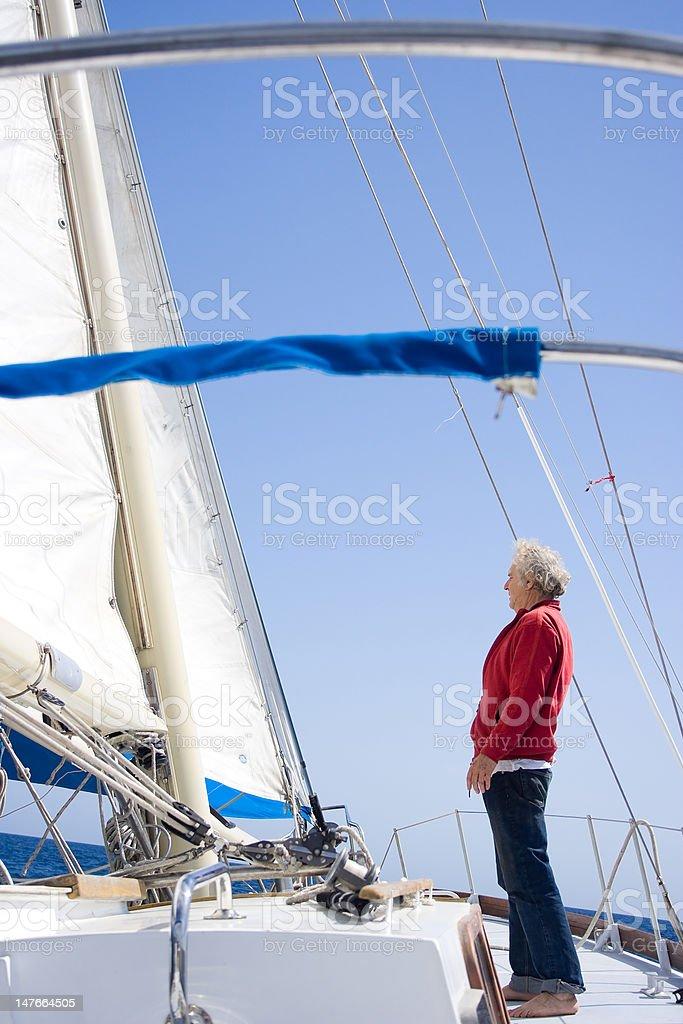 Senior sailor royalty-free stock photo