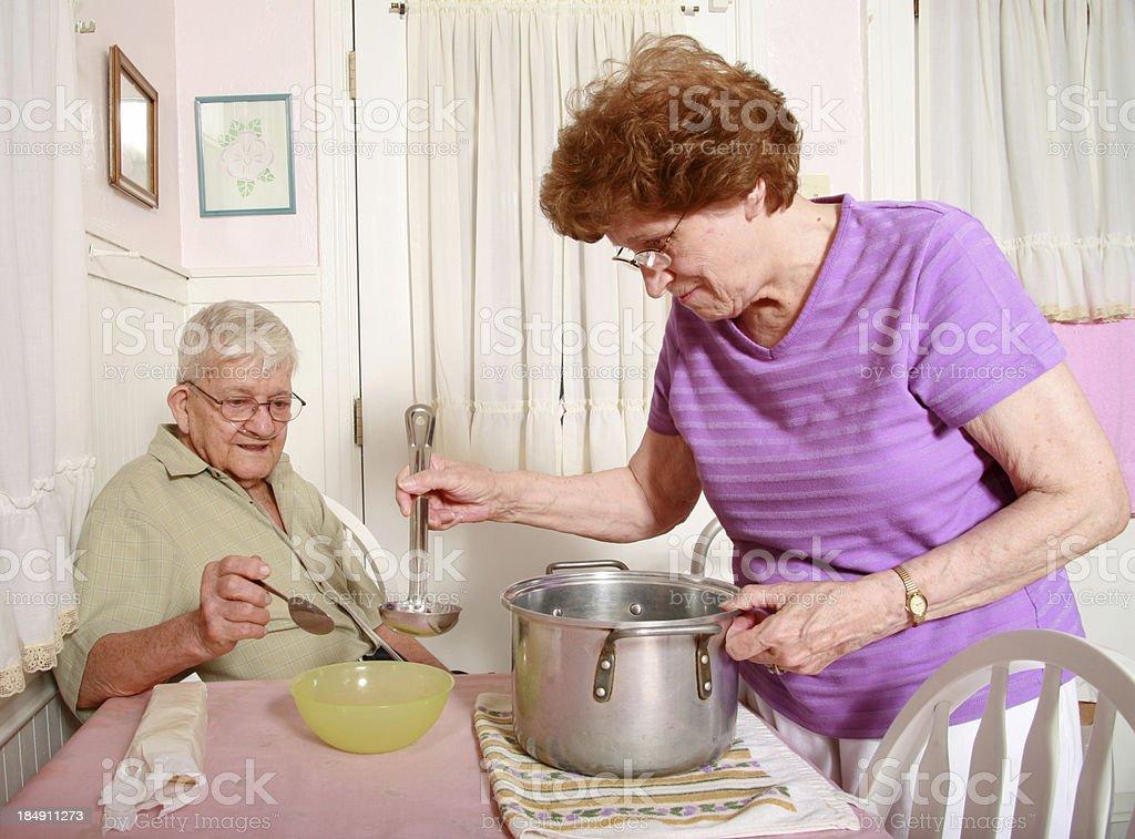 Senior Series: Dinner Time royalty-free stock photo