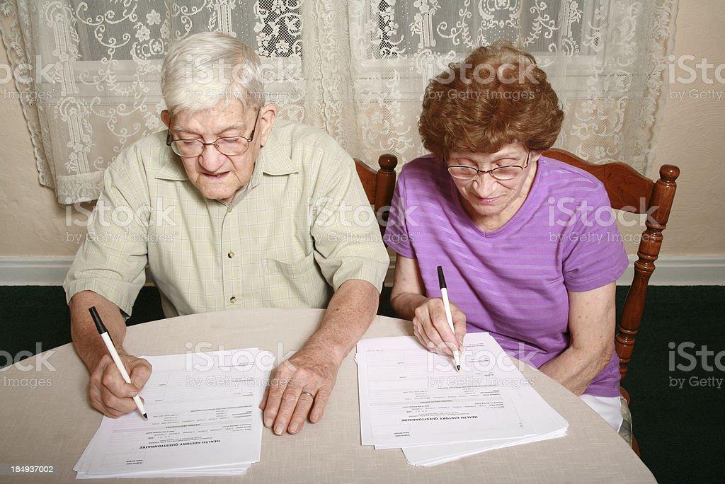 Senior Series: Medical Forms royalty-free stock photo