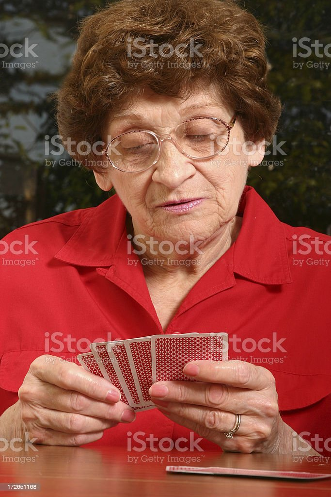 Senior Series: The Hand Dealt royalty-free stock photo