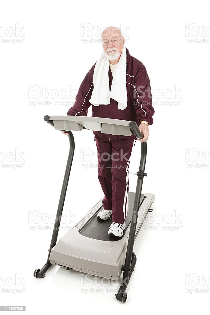 Senior Serious About Fitness royalty-free stock photo