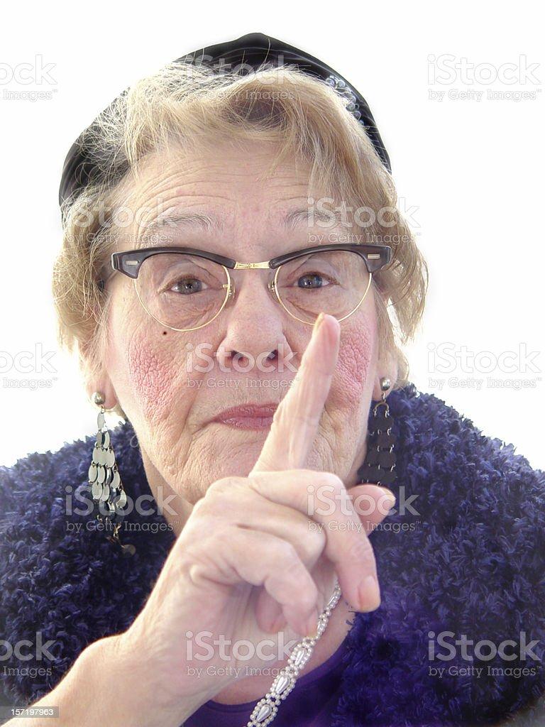 senior - shame on you! royalty-free stock photo