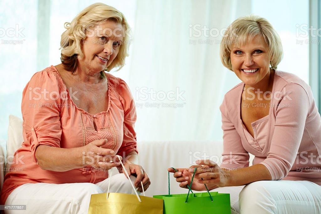 Senior shoppers royalty-free stock photo