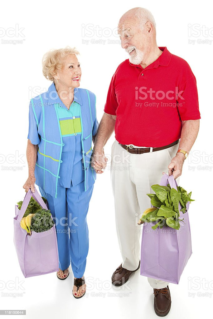Senior Shoppers - Renewable Resources royalty-free stock photo