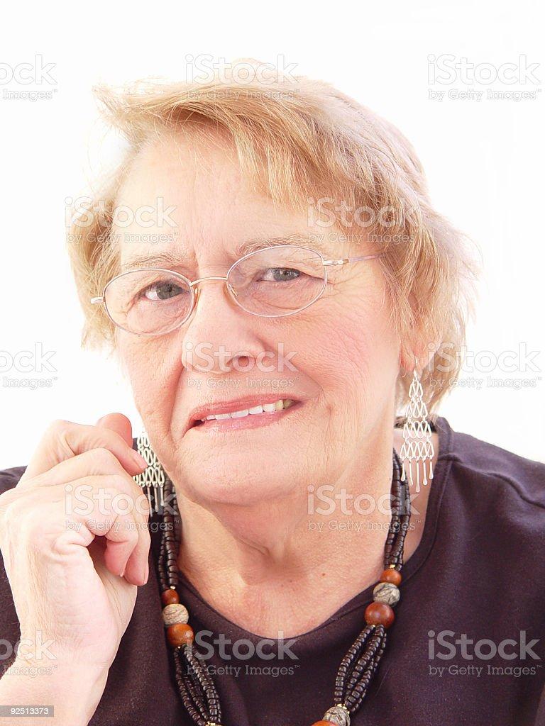 senior - shrewd business smile stock photo