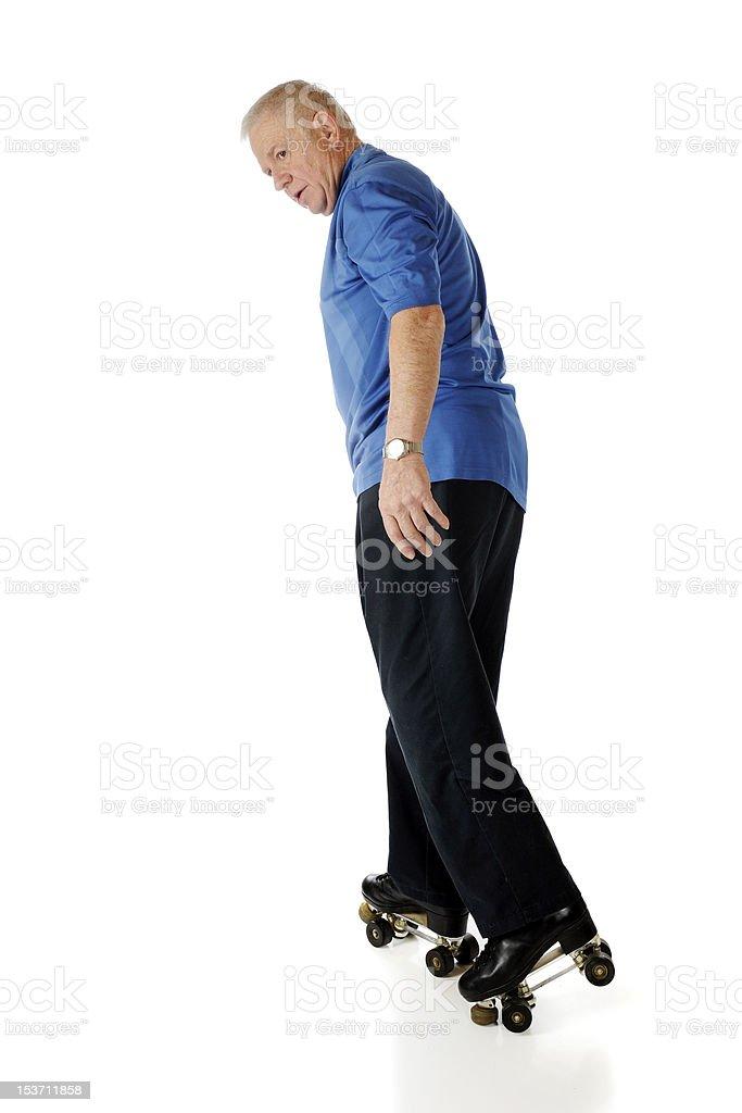 Senior Skating Backwards royalty-free stock photo