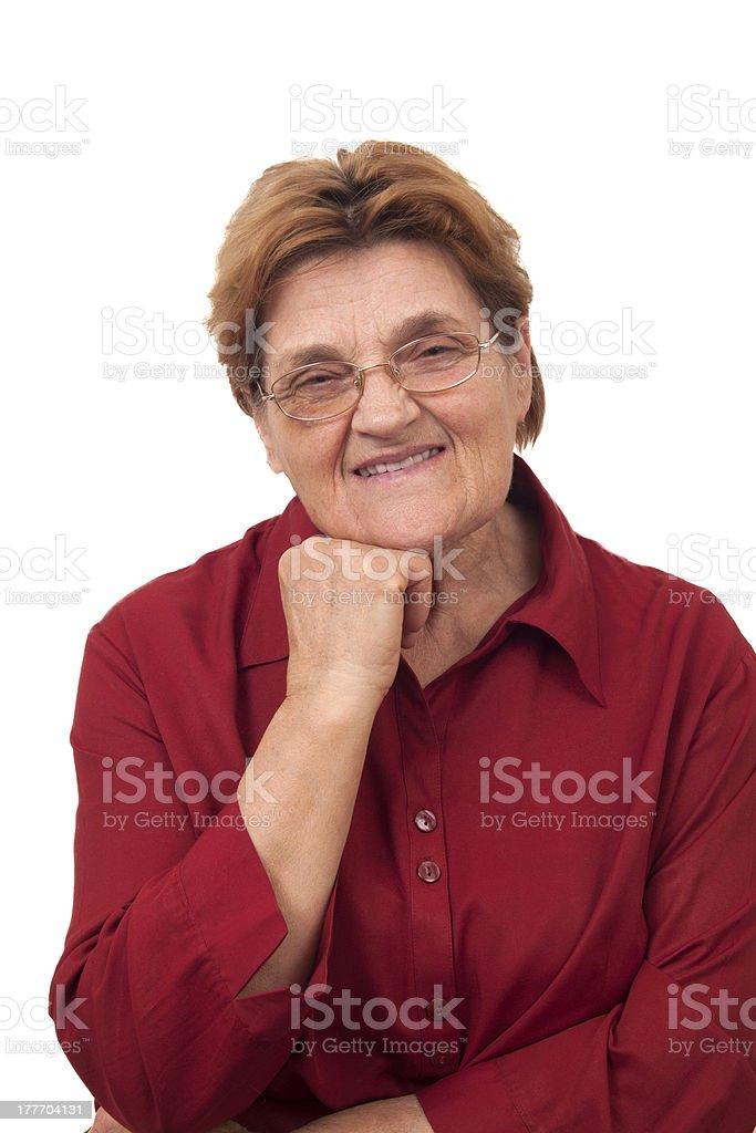 Senior smiling women with glasses royalty-free stock photo