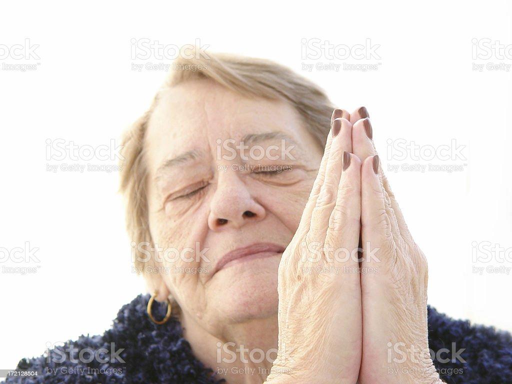 senior - spiritually speaking stock photo