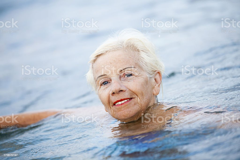 Senior Swimmer royalty-free stock photo