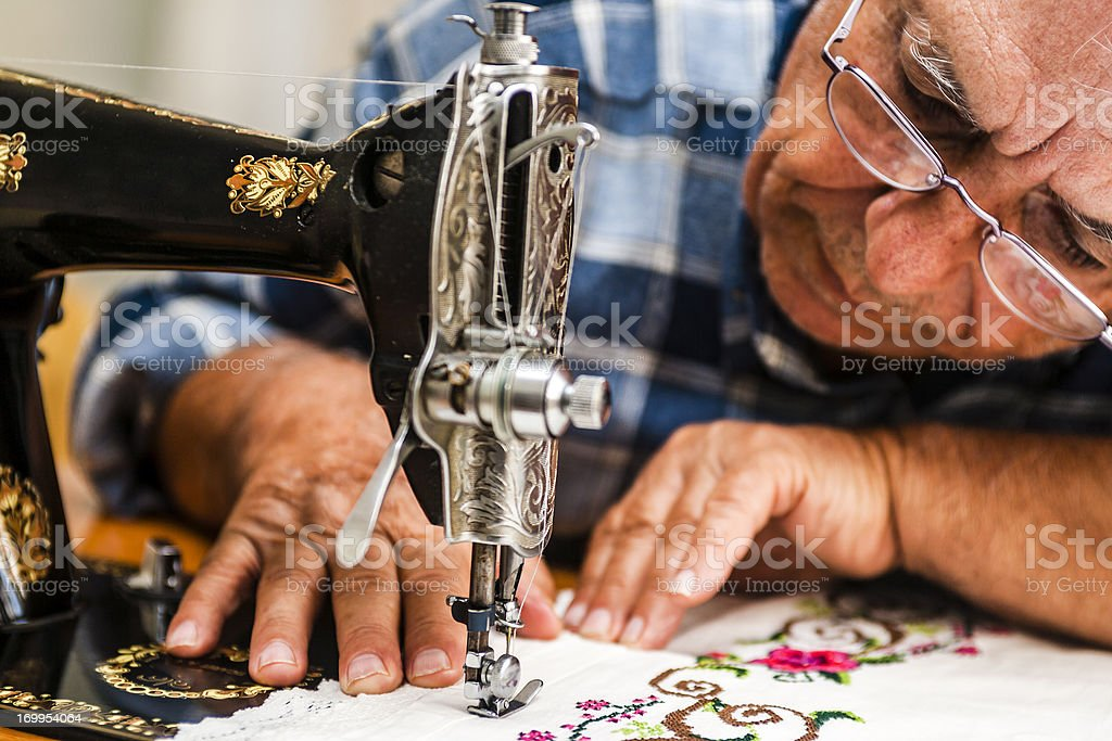 Senior Tailor royalty-free stock photo
