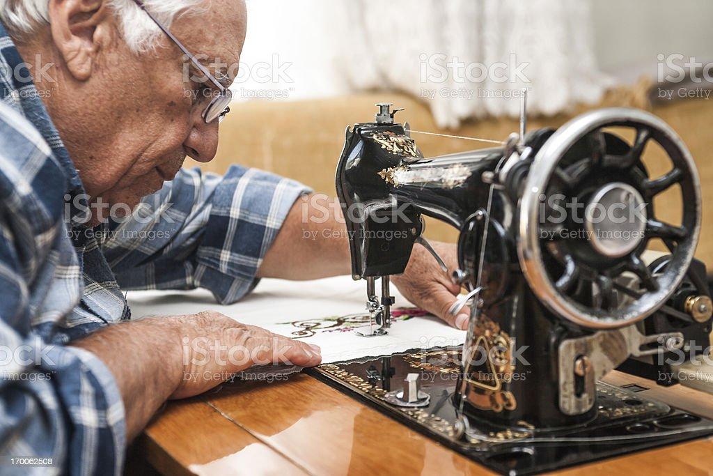 Senior Tailor royalty-free stock photo